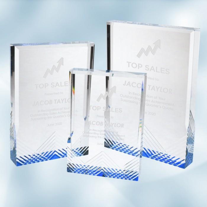 Blue Apex Mirage Acrylic Award