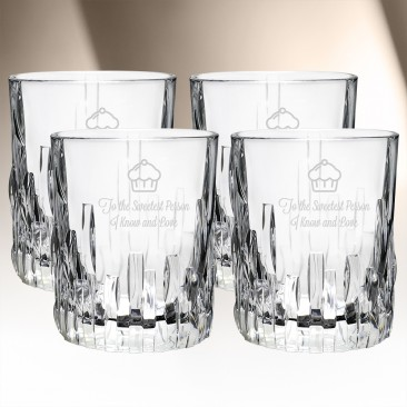 Nachtmann Shu Fa Whisky Tumbler 11oz, 4pcs Set