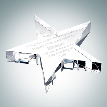 Crystal Flat Star Paperweight