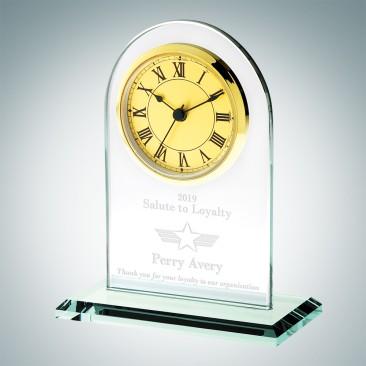 Jade Gold Roman Arch Clock