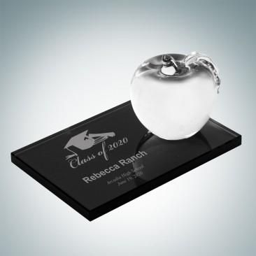 Apple with Smoke Glass Base