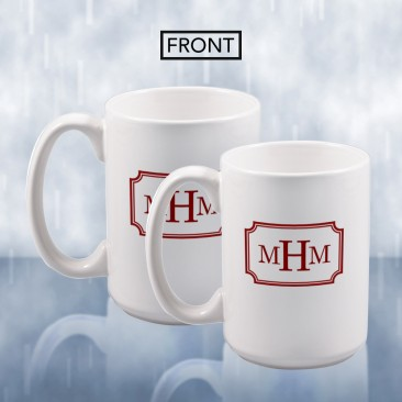 Monogrammed Sublimation Color Imprinted Ceramic Mug
