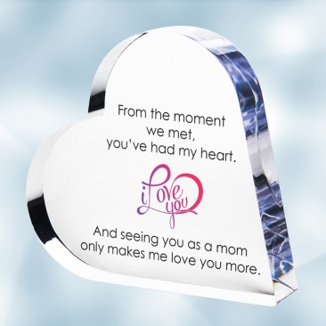 Color Imprinted Acrylic Heart Keepsake