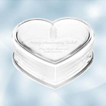 Monogrammed Acrylic Heart Box