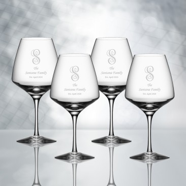 Orrefors Pulse Wine Glass 4pc Set, 12oz
