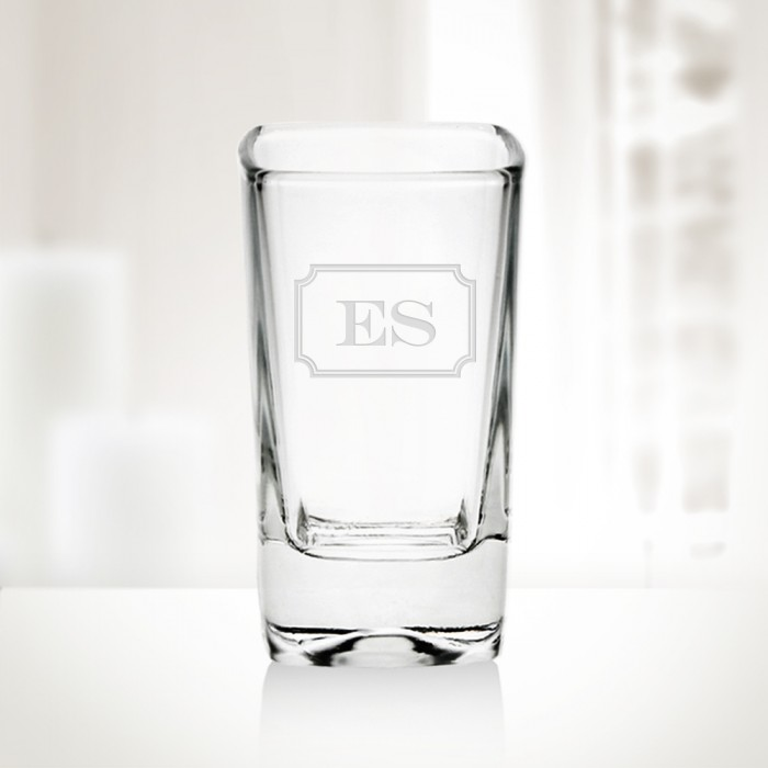 Monogrammed 2.75oz Tall Square S