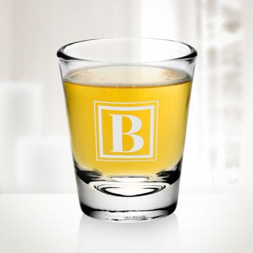 Monogrammed 2oz Shot Glass