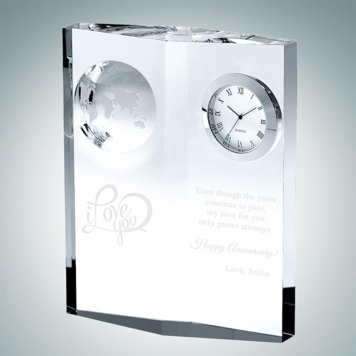Globe Plaque Clock 101580S