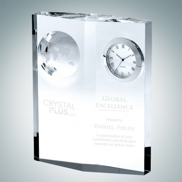 Globe Plaque Clock