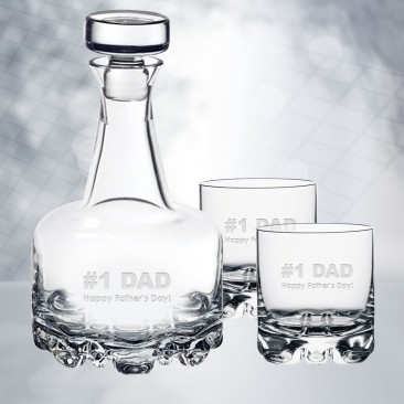 Orrefors Erik Decanter & DOF Whiskey Glass 3pcs Set