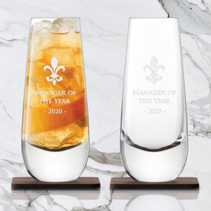 LSA Islay Mixer Glass & Walnut C