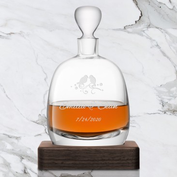 LSA WHISKY Islay Decanter & Walnut Base 33.8oz