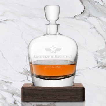 LSA WHISKY Arran Decanter & Walnut Base 33.8oz