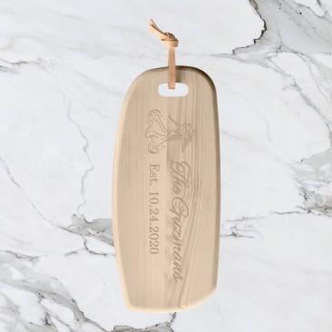 LSA IVALO Ash Board & Leather Toggle Point Cutting Board
