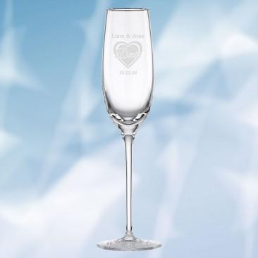 Lenox Solitaire Platinum Signature Champagne Flute, 8oz