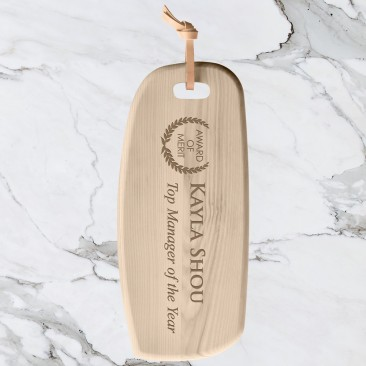 LSA IVALO Ash Cutting Board & Leather Toggle Point