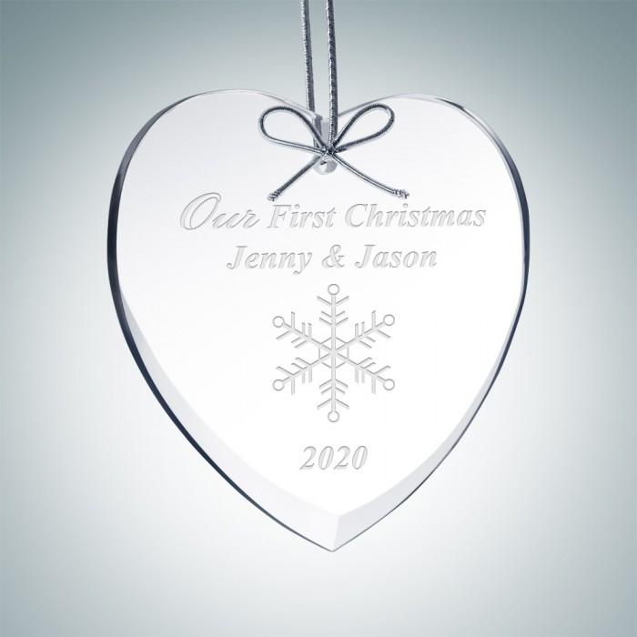 Beveled Heart Ornament