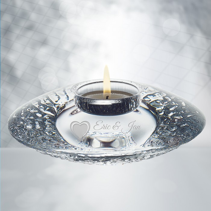 Orrefors Discus Votive Candle