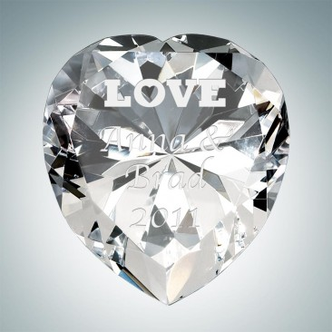 Now & Forever Clear Diamond Heart