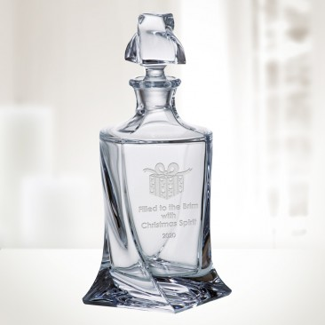 Crystalite Quadro Decanter, 28oz