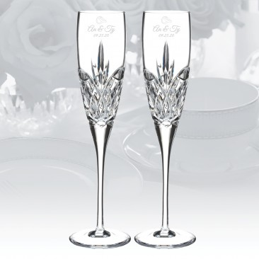 Waterford Love Forever Flute Pair, 5oz