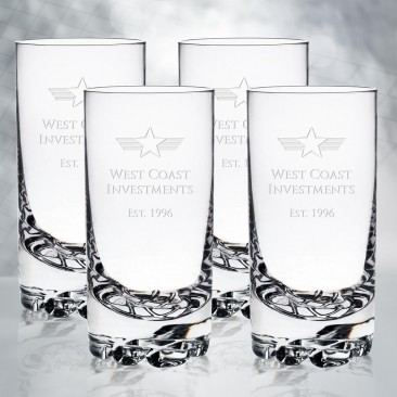 Orrefors Erik Highball, 4pc Set