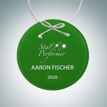 Green Circle Ornament