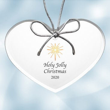 Color Imprinted Acrylic Heart Ornament