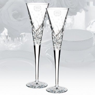 Waterford Wishes Happy Celebrations Flute Pair, 5oz