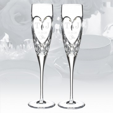 Waterford True Love Flute Pair, 5oz