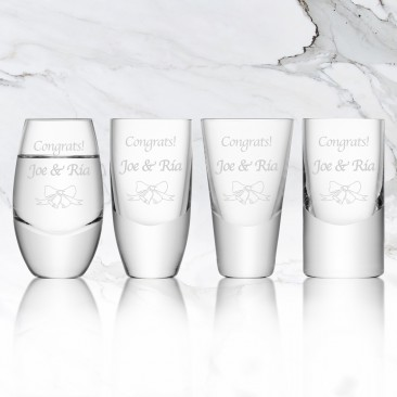 LSA LULU Vodka Shot Glass 4pc Set, 2oz