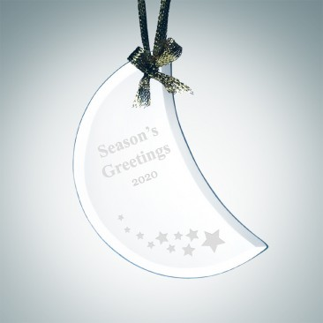 Jade Beveled Moon Ornament