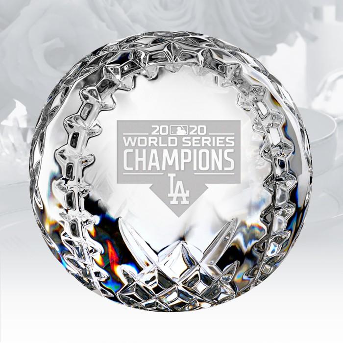 Pre-etched LA 2020 MLB Champions