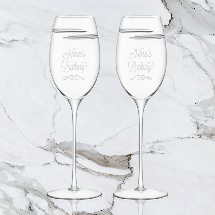 Verso White Wine Glass Pair