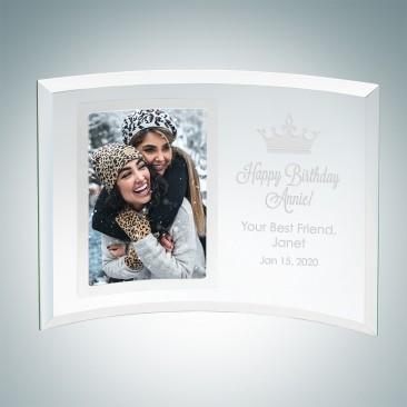 Jade Curved Vertical Silver Photo Frame