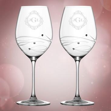 Barski Sparkle Red Wine Glass 4pc Set, 16oz