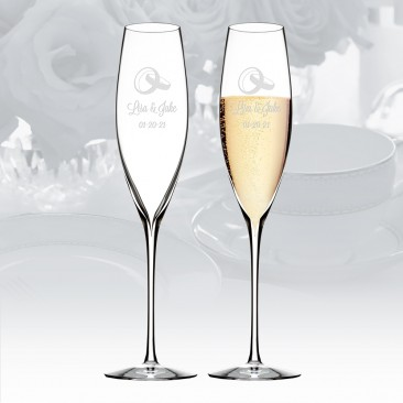 Waterford Elegance Champagne Classic Flute Pair, 8.5oz