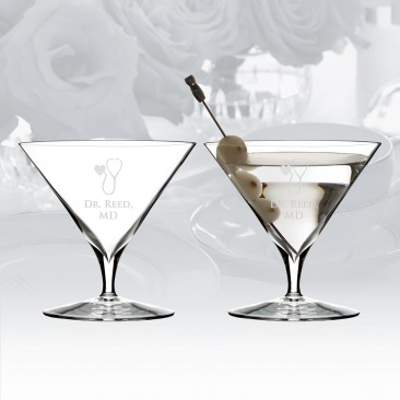 Waterford Elegance Martini Glass Pair, 11.2oz