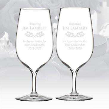 Waterford Elegance Water Glass Pair, 17oz