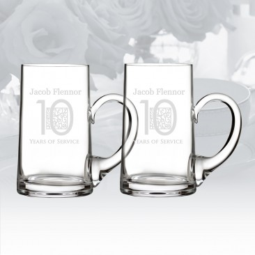 Waterford Elegance Beer Mug Pair, 24oz