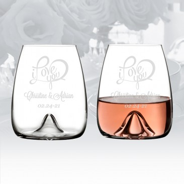 Waterford Elegance Stemless Wine Glass Pair, 17.6oz