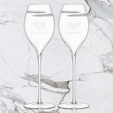 LSA Verso Champagne Tulip Glass Pair, 12.5oz