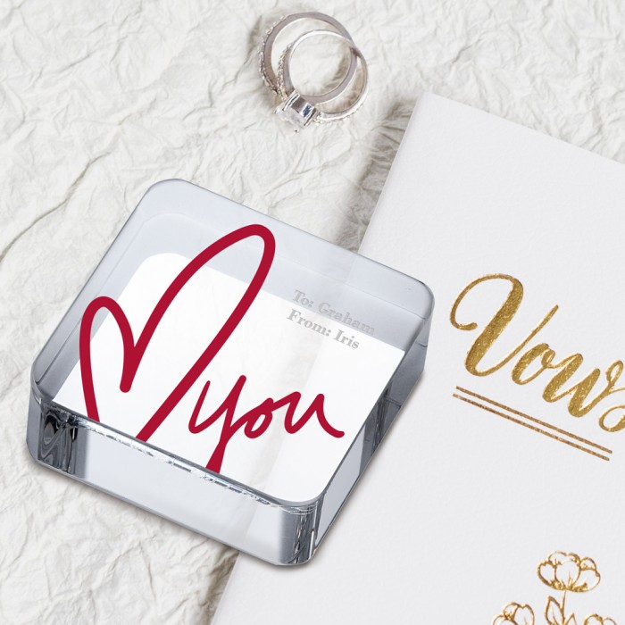 Love Square Paperweight lifestyl