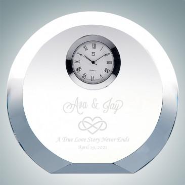 Circle Silver Clock