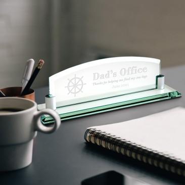 Jade Nameplate with Aluminum Holder