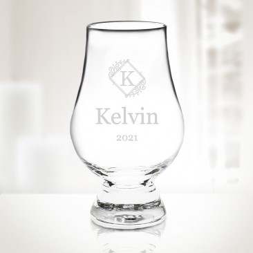 Monogrammed Glencairn Crystal Whiskey Glass 6.75oz