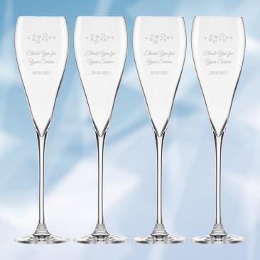Lenox Tuscany Classic Sparkling Wine Glass 4pc Set, 9.5oz
