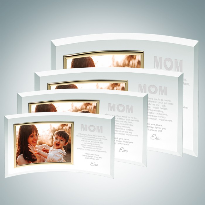 Curved Horizontal Gold Frame