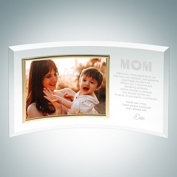 Jade Curved Horizontal Gold Photo Frame