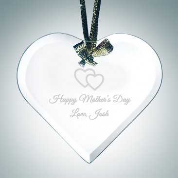 Jade Beveled Heart Ornament